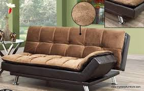 Klik Klak Sofas 373 Elephant Skin Brown Fabric Two Tone Klik Klak Sofa Bed U2013 Mysleep