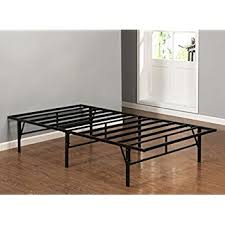 amazon com zinus 14 inch bifold platform bed frame folding