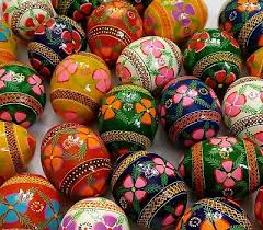 painted wooden easter eggs assorted wooden painted ukrainian easter eggs pysanka pysanky