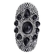 aliexpress buy mens rings black precious stones real new design big black precious stones antique silver carved metal