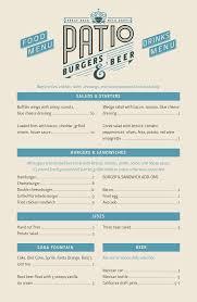 los patios menu patio burgers u0026 beer menu menu for patio burgers u0026 beer eagle
