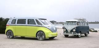 green volkswagen van vw announces electric microbus for 2022 business insider