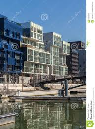 the confluence district in lyon france editorial stock image