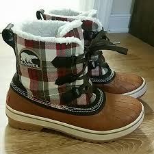 sorel s tivoli boots size 9 40 sorel boots xxxon holdxxx sorel tivoli plaid boots from