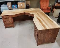 Custom Desk Ideas Custom Corner Computer Desk Amish Custom Corner Computer Desk