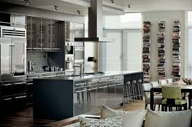 Open Kitchen Designs With Island Appliances Contemporary Open Kitchen Design With High Gloss