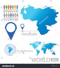 Venezuela World Map by Venezuela South America World Map Vector Stock Vector 151170815