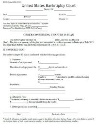 confirmation and amending the chapter 13 repayment plan