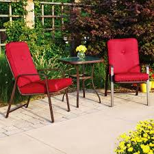 Small Patio Table And Chairs Dining Room Beautiful Red Dining Set In The Garden Using Outdoor