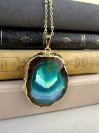 jewelry crystal necklace images Gold layered necklace quartz birthstone jewellery crystal jpg