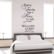 every family has story tell wall quote art decals quotes