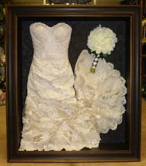 wedding wishes keepsake shadow box framed wedding dress and bouquet framed by floral keepsakes this
