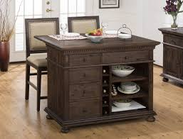 Kitchen Island Cart With Drop Leaf by Jofran Expandable Drop Leaf And Wire Brushed Kitchen Island With