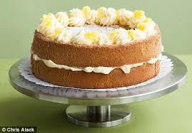 recipe fluffy lemon sponge cake daily mail