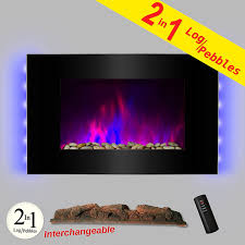 36 inch wall mount modern space heater electric fireplace box