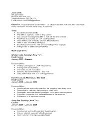 resume duties examples resume cashier objective fax cover sheet print teaching resume job application for cashier documentshub com job duties for resumes how write a kick ass resume