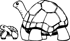 mother and baby tortoise turtle coloring page wecoloringpage