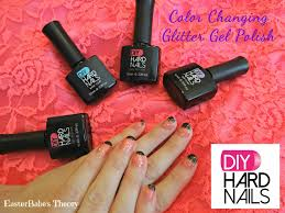 how to apply diy hard nails color changing glitter gel polish