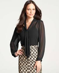 Black Blouses For Work What To Wear Under A Sheer Blouse For Work Peach Chevron Blouse