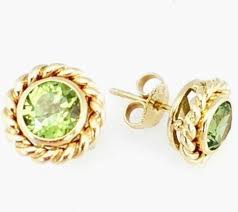 peridot stud earrings co yellow gold peridot stud earrings co 18k