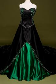 green wedding dresses black wedding dress with green embroidery custom made in