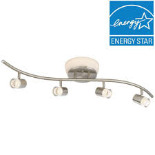 Led Ceiling Track Lights Envirolite Brushed Nickel Led Ceiling Mounted Flushmount And Track