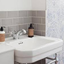 Gray Subway Tile Bathroom by Bathroom White Subway Tiles With Gray Grout Transitional Bathroom