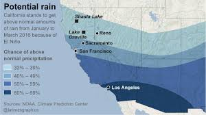 California Weather Map El Niño Keeps Getting Stronger New Forecast For Rain Increases