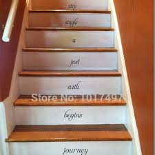 free shipping home stair decal every journey begins stairway
