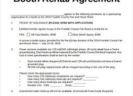 photo booth rental cost chair rental agreement template sle booth rental agreement 9