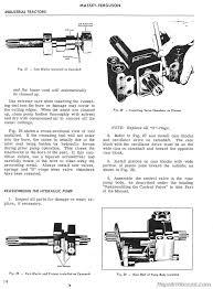 massey ferguson mf 302 mf 304 tractor mf 320 backhoe service