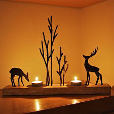 Reindeer Decoration Christmas Reindeer Double Tealight Decoration By London Garden