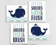Sailor Bathroom Set Nautical Nursery Boy Nautical Room Baby Boy Ocean Decor Whale