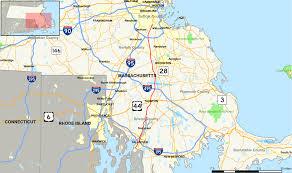 road map massachusetts usa massachusetts route 138