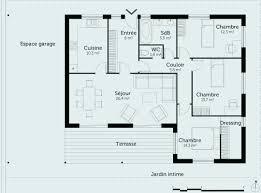 plan de maison 4 chambres plan de maison de plain pied plan maison plain pied 4 chambres