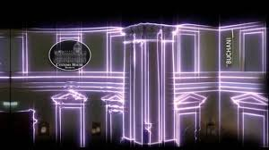 experiential graphics projection mapping at the customs house
