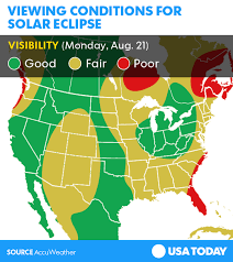us weather map monday solar eclipse 2017 weather forecast where will clouds ruin your view