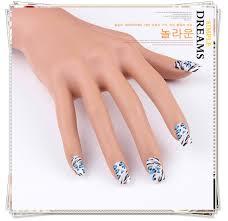 wholesale f u0026u women u0027s favorite blue leopard fake nails
