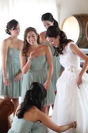 malibu bridesmaid dresses mint and white wedding in malibu