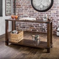 furniture of america royce modern industrial sofa table free