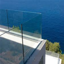 Glass Banisters Cost Low Cost Glass Balcony Panels Aluminum U Channel Balustrade Buy