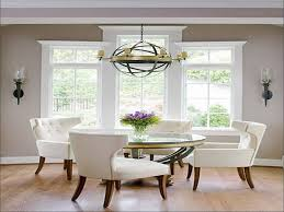 traditional round glass dining table beautiful round glass dining table white upholstered chairs and