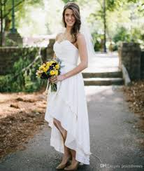 simple plain wedding dresses white pleated sweetheart backless
