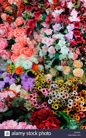 plastic flowers bunches of colorful colourful plastic artificial flowers