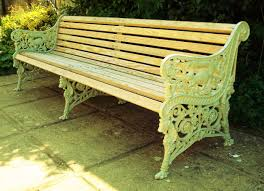 monumental c19th cast iron garden bench seat c 1870 scotland