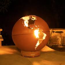 Fire Pit Globe by Third Rock Gas Outdoor Fire Pit Woodlanddirect Com Outdoor