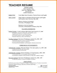 resume for teachers exles resume for experienced teachers exles resume sles elementary