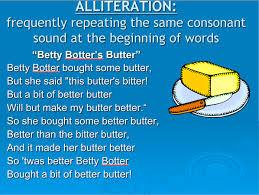 caveman english alliteration