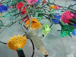 christmas tree flower lights lot old midget christmas tree lights fancy plastic flower