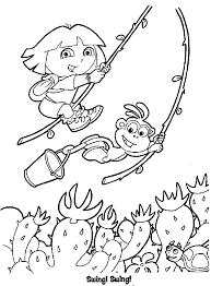 dora coloring pages free and boots cartoon coloring pages of